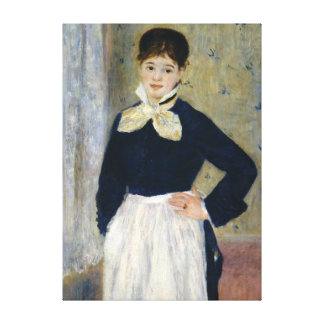 Auguste Renoir A Waitress at Duval's Restaurant Canvas Print