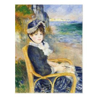 Auguste Renoir By The Seashore Art Postcard