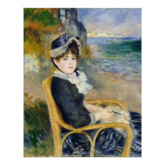 Auguste Renoir By the Seashore Poster