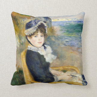 Auguste Renoir By the Seashore Throw Pillow