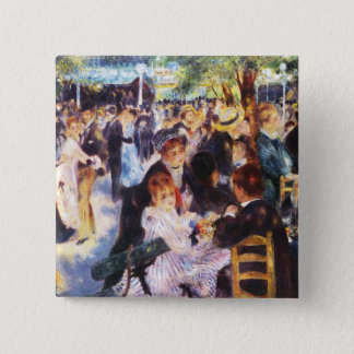 Auguste Renoir - Dance at Le moulin de la Galette 2 Inch Square Button