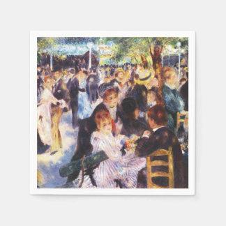 Auguste Renoir - Dance at Le moulin de la Galette Paper Napkin