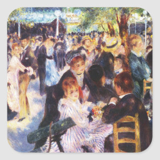 Auguste Renoir - Dance at Le moulin de la Galette Square Sticker