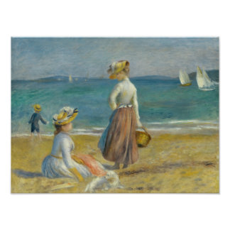 Auguste Renoir - Figures on the Beach Photographic Print