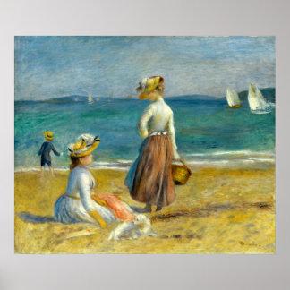 Auguste Renoir Figures on the Beach Poster
