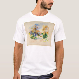 Auguste Renoir Landscape with a Path between Trees T-Shirt
