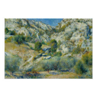 Auguste Renoir - Rocky Crags at L'Estaque Poster