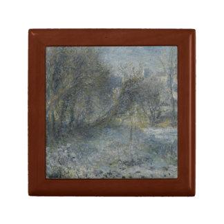Auguste Renoir - Snow-covered Landscape Keepsake Box