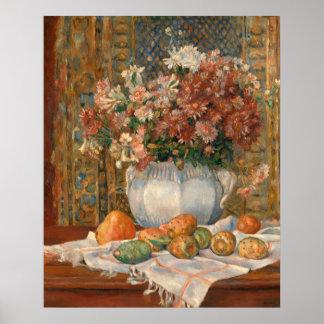 Auguste Renoir Still Life Flowers Prickly Pears Poster