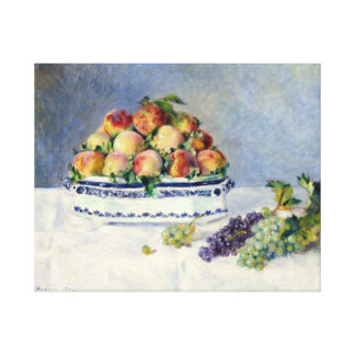 Auguste Renoir Still Life with Peaches and Grapes Canvas Print