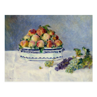 Auguste Renoir -Still Life with Peaches and Grapes Postcard