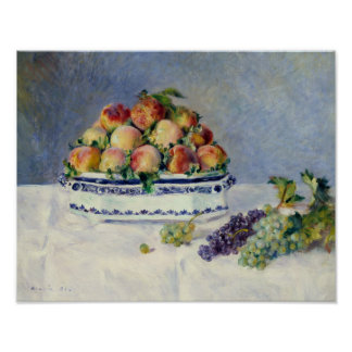 Auguste Renoir -Still Life with Peaches and Grapes Poster