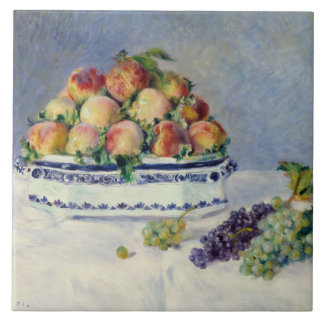 Auguste Renoir -Still Life with Peaches and Grapes Tile