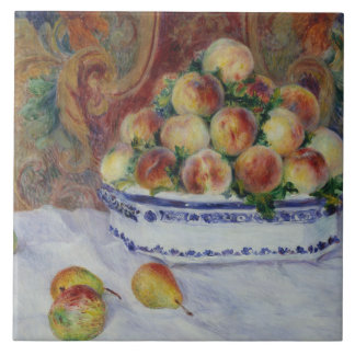 Auguste Renoir - Still Life with Peaches Tile