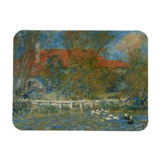 Auguste Renoir - The Duck Pond Rectangular Photo Magnet