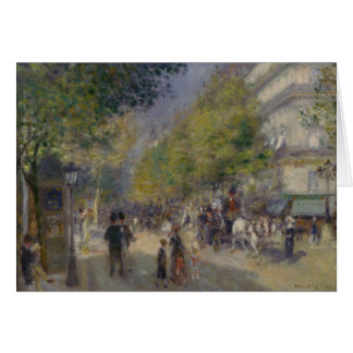 Auguste Renoir - The Grands Boulevards Card