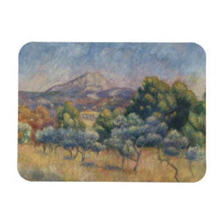 Auguste Renoir - The Sainte-Victoire Mountain Magnet