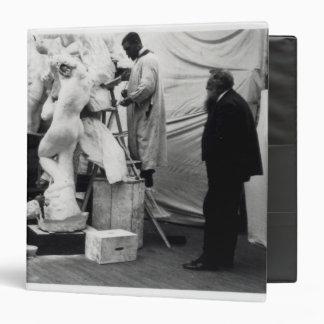 Auguste Rodin  in his Paris studio Binders