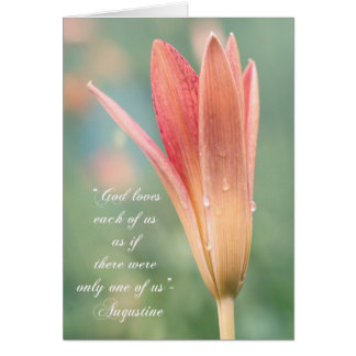 Augustine quote about God on Daylily photo Card