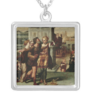 Augustus  and the Tiburtine Sibyl, c.1540-50 Silver Plated Necklace