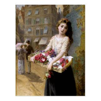 Augustus Edwin Mulready: A Street Flower Seller Postcard