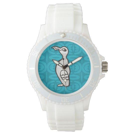 Auk watch on aqua background