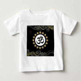 Aum Hindu Sacred Sound Symbol black gold white Baby T-Shirt