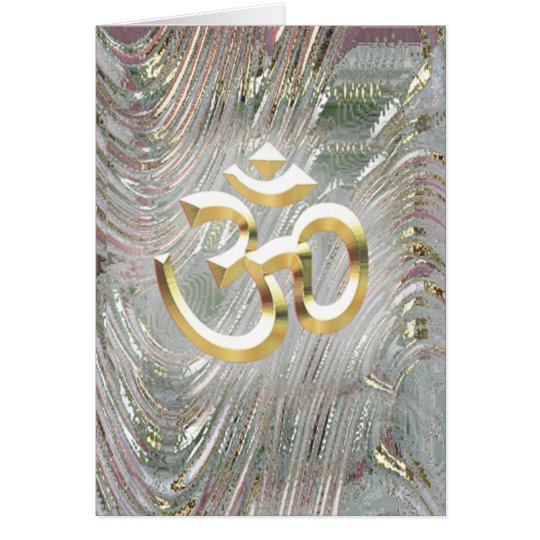 Aum Namaste Ap Kay-say Hey Card