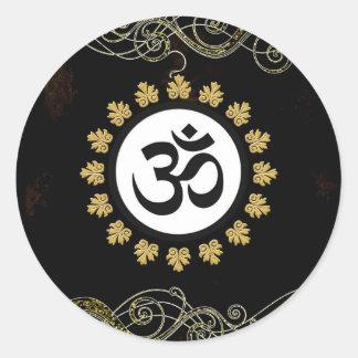 Aum - Om - Hindu Sacred Symbol Round Sticker