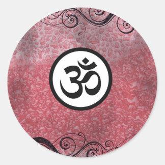 Aum (om) Sacred Hindu Symbol Round Sticker