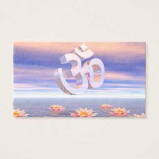 Aum - om upon waterlilies - 3D render Business Card