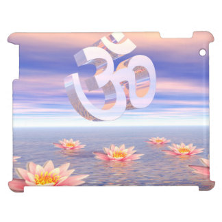 Aum - om upon waterlilies - 3D render Case For The iPad 2 3 4