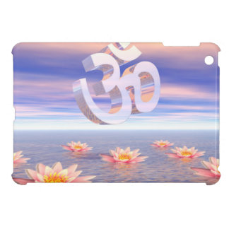 Aum - om upon waterlilies - 3D render Case For The iPad Mini