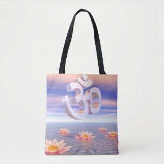 Aum - om upon waterlilies - 3D render Tote Bag