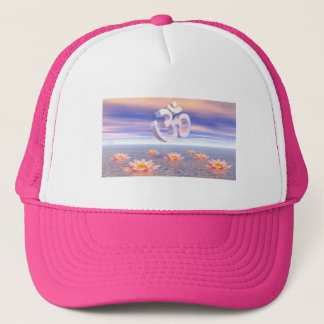 Aum - om upon waterlilies - 3D render Trucker Hat