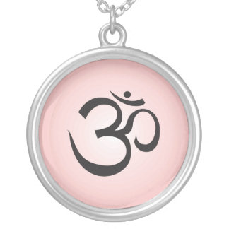Aum Symbol Necklace - Pink
