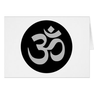 Aum Symbol, Silver and Black Card
