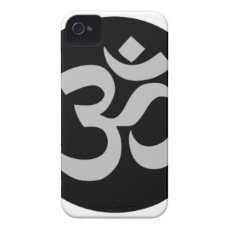 Aum Symbol, Silver and Black iPhone 4 Cover