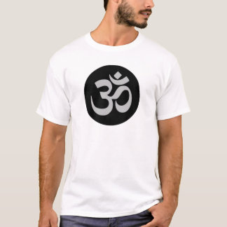 Aum Symbol, Silver and Black T-Shirt