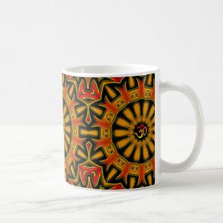Aum wheel classic white coffee mug