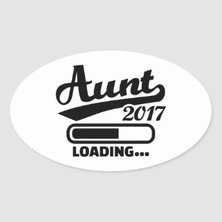 Aunt 2017 oval sticker