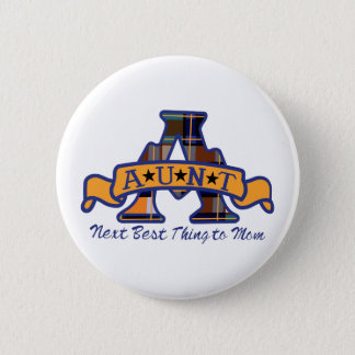 Aunt Applique 2 Inch Round Button