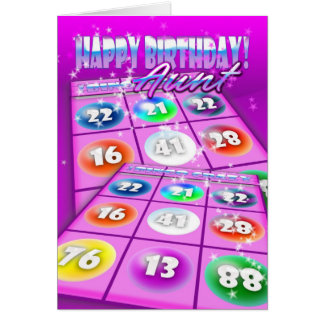 Aunt Bingo Crazy Birthday Card