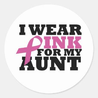 aunt classic round sticker