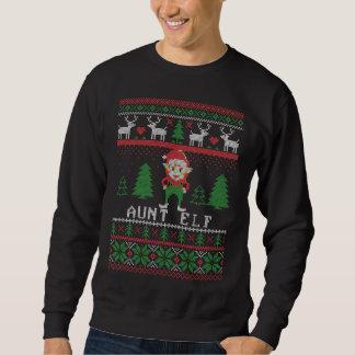 Aunt Elf Ugly Christmas Sweatshirt