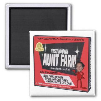 Aunt Farm Square Magnet