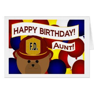 Aunt - Happy Birthday Firefighter Hero! Greeting Card