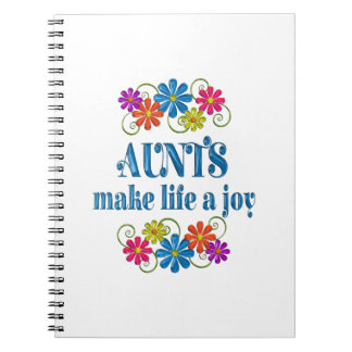 Aunt Joy Spiral Notebooks