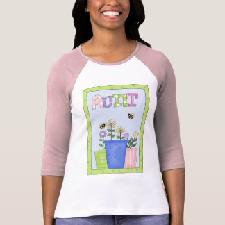 Aunt - Ladies 3/4 Sleeve Raglan Shirt