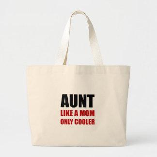 Aunt Like Mom Cooler Large Tote Bag